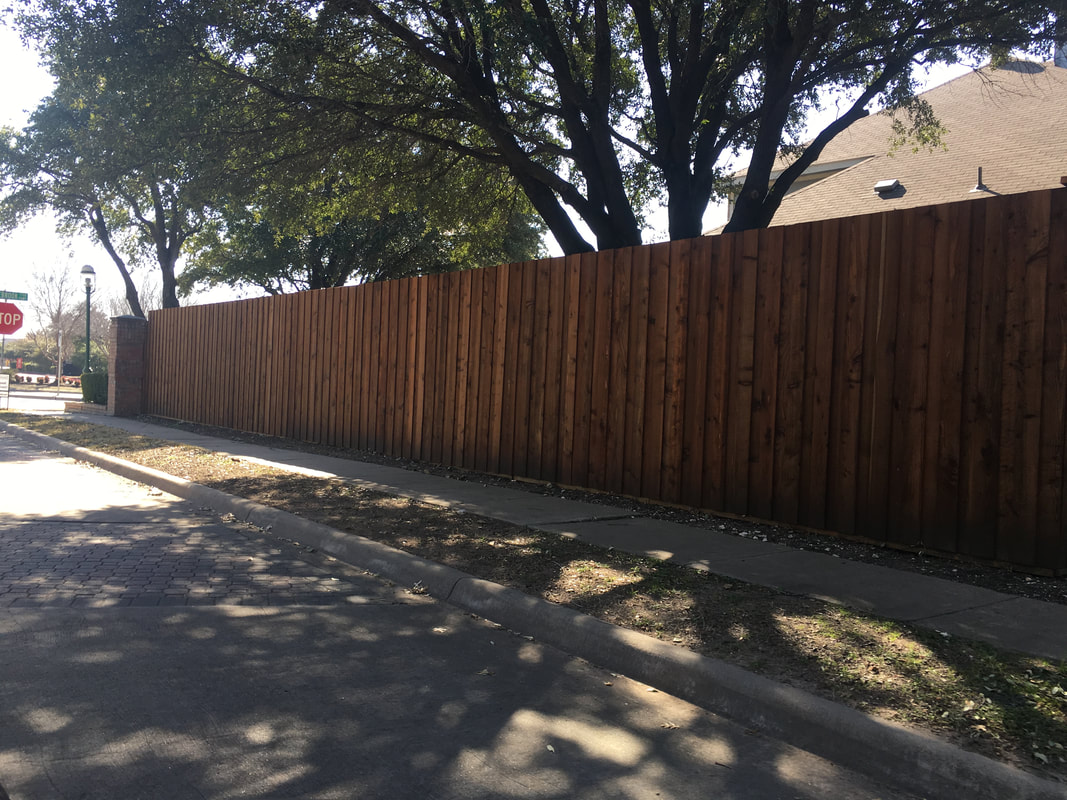 Fence Staining and Building Frisco, Texas